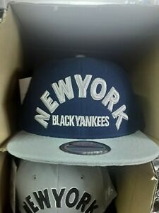 NLBM New York black Yankees dark blue and gray snapback
