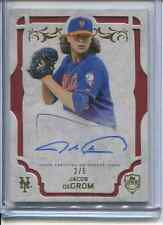 2015 TOPPPS SUPREME JACOB DECROM AUTO RED PARALLEL 2/5 NEW YORK METS