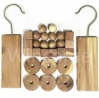 Cedar Wood Natural Moth & Odour Piece Hanging Clothes Insect Deterrent Repellent