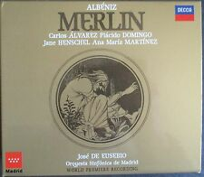 ALBENIZ 'MERLIN'  - IMPORT 2-CD BOX SET ALVAREZ - DOMINGO - HENSCHEL - MARTINEZ