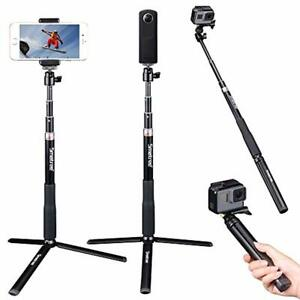 Smatree Telescoping Selfie Stick with Tripod Stand Compatible for GoPro Hero Fus