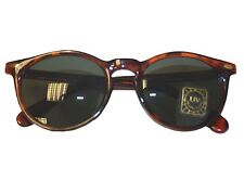 Mens Vintage 1980's Brown Tortoise Shell Round Sun Glasses Unisex Sunglasses UK