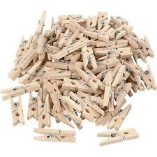 100pc DIY Mini Natural Wooden Clothe Photo Paper Peg Clothespin Craft Clips 25mm