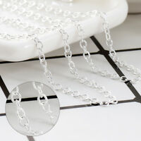 Women Wholesale 1PC/5Pcs Silver O Shaped Chain Necklace Jewelry Lots 16-30inch