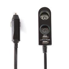 Car Cigarette Lighter Socket Splitter 2-Way Dual USB 5V Charger Adapter DC 12V