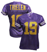 Custom Womens Blinged Football Purple Jersey,Adam Thielen