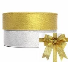 1Roll-25Yards 3/8 Glitter Sparkle Ribbon Shimmer Metallic Wedding Gift Wrapping
