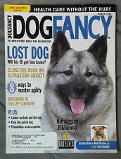 Dog Fancy Magazine 2003 July March Norwegian Elkhound Staffordshire Pit Bull