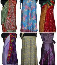 "Vintage Sarong Sari Skirt 10 Pcs Plus Size - Indiantrend 36"" XL"