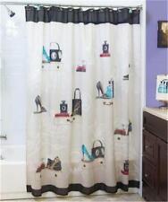 "Fashionista Shoe/Purse Themed Bath 72"" Sq. Shower Curtain Bathroom Home Decor"