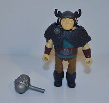 """2014 Snotlout w/ Mace 3.5"""" Spin Master Action Figure How To Train Your Dragon 2"""
