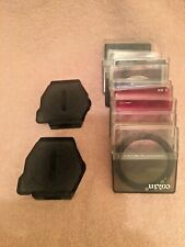 3 Cokin Filter Holders 48, 49 & 52Mm With 6 Filters And 4 Specialty Filters.