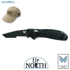 Benchmade 553SBK Griptilian AXIS Knife 154cm Black Serrated TANTO Blade FREE HAT