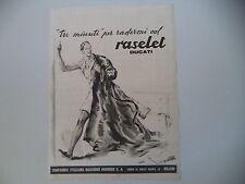advertising Pubblicità 1941 RASOIO DUCATI RASELET