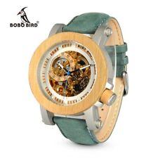 Montre BOBO BIRD-Montre Mécanique en Bambou Vintage, Horloge Squelette en Bronze