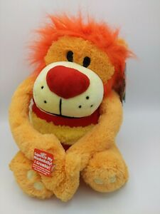 """Mushabelly Jay At Play Chatter Ryder Roaring Growling Lion Stuffed Plush Toy 17"""""""