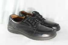 ECCO Mens Seawalker Moc Toe Oxford Shoes Black Leather Sz 44/US 10-10.5