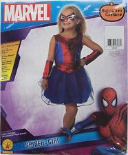 Halloween Marvel Spider Girl Dress Mask Costume Size Medium 8-10 Ages 5-7 NWT