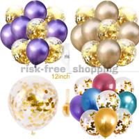 "10-50 12"" METALLIC LATEX PEARL CHROME Shiny BALLOONS  Helium Baloon Birthday UK"