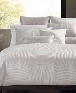 NIP Hotel Collecton Luminescent Light Silver Cal King Bedskirt $120