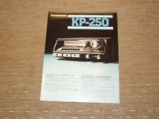 Pioneer KP-250 Car Stereo Cassette tape Original Catalogue
