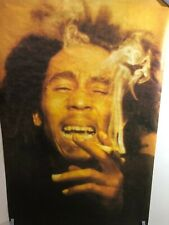 HUGE SUBWAY POSTER Bob Marley Smoking Laughing Classic Reggae Rasta Marijuana