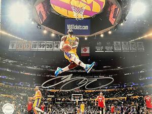 LEBRON JAMES LA Lakers DUNK Autographed 8x10 Photo (RP)