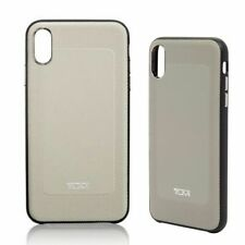 Tumi Textured Leather Protective Co-Mold iPhone Grey Case iPhone XS Max