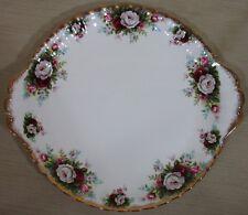 "Royal Albert ""Celebration"" Handled Cake Plate Serving Tray Platter 10¼"" England"