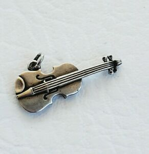 RETIRED JAMES AVERY STERLING SILVER VIOLIN CHARM MUSICAL ORCHESTRA - UNCUT!