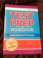 Common Core Grade 3 Test Prep Work Book Language Arts Math Homeschool Tutor