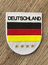 Deutschland Aufnäher Bügelbild Patch Applikation Bügelsticker Fan Party Feiern
