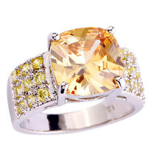 Fashion Jewelry Morganite Gemstone Women & Men Wedding Bands Silver Ring Gift
