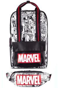 Difuzed Marvel Backpack - Comic (Black/White) + Belt Bag