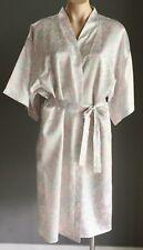 Soft Pastel Multi Colour Floral Print PEACHES & CREAM Dressing Gown/Robe M/12