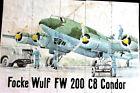 FOCKE WULF FW 200 - GERMANS IN SPAIN 1942 WW 2 + RATION TICKETS BACK - SCARCE