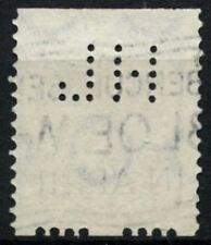 Netherlands 1926-32 SG#320B 15c Ultramarine Interrupted Perfs Used Perfin#D71406