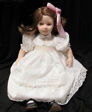 """18"""" Pauline Bjonness Jacobsen Design Doll """"Little Trudy"""" Girl in White Dress LE"""