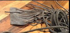 WW2 British Army ammo boots square cut leather laces vintage NOS WW1 Rare 1 pair