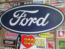 FORD OVAL LARGE Logo  Metal Sign Auto Shop Sign Motor Oil Can Rack Mustang cool