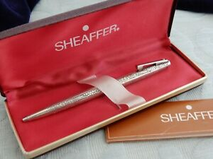 "Vintage Sterling Silver ""Sheaffer"" Ballpoint Pen, Rare Grapes & Leaves pattern"