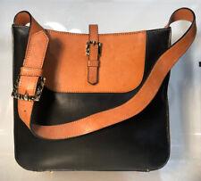 Vintage? Adrienne Vittadini Brown & Black Leather Handbag Shoulder Purse