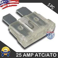 5 Pack 25 AMP ATC/ATO STANDARD Regular FUSE BLADE 25A CAR TRUCK BOAT MARINE RV