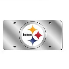 Pittsburgh Steelers Mirrored Laser Cut License Plate Laser Tag