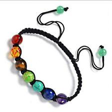 Healing Balance Beads Bracelet Yoga  Bracelet Rainbow Gay Pride Braclet 594