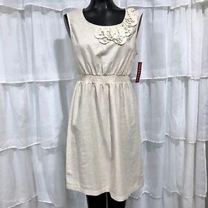 Medium NWT MERONA Womans Linen Blend Sheath Dress