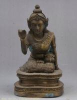 "5.6 ""bouddhisme temple - sculpture de bronze de tara déesse statue de bouddha"