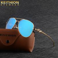KEITHION Men's Polarized Sunglasses Trend Mirrored Glass Fishing Driving Eyewear
