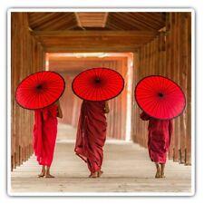 2 x Square Stickers 7.5 cm - Pagoda Myanmar Burma Umbrella Cool Gift #3545