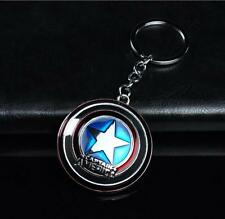 1pcs Silver The Avengers Captain America Shield Metal Keyring Keychain